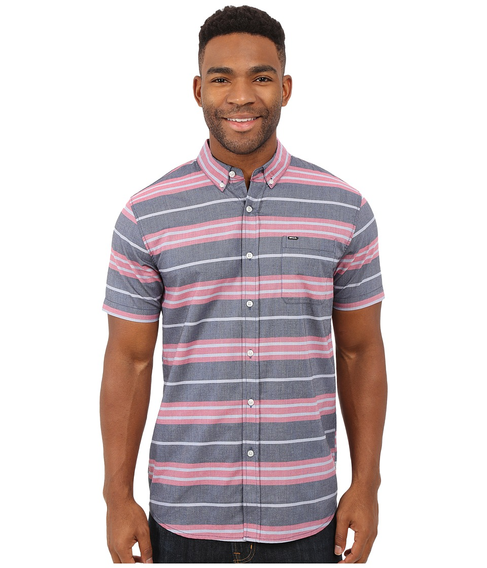 Rip Curl - Ourtime Short Sleeve Shirt (Red) Men's Short Sleeve Button Up