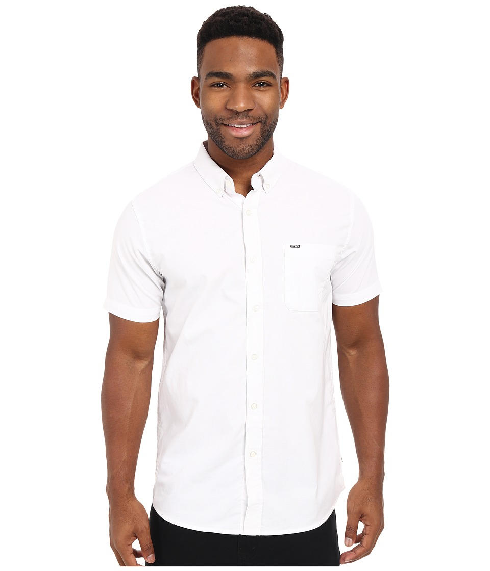 Rip Curl - Ourtime Short Sleeve Shirt (White 1) Men's Short Sleeve Button Up