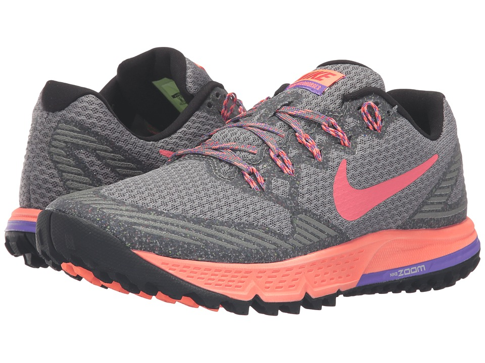 Nike - Air Zoom Wildhorse 3 (Tumbled Grey/Ember Glow/Bright Mango) Women's Running Shoes