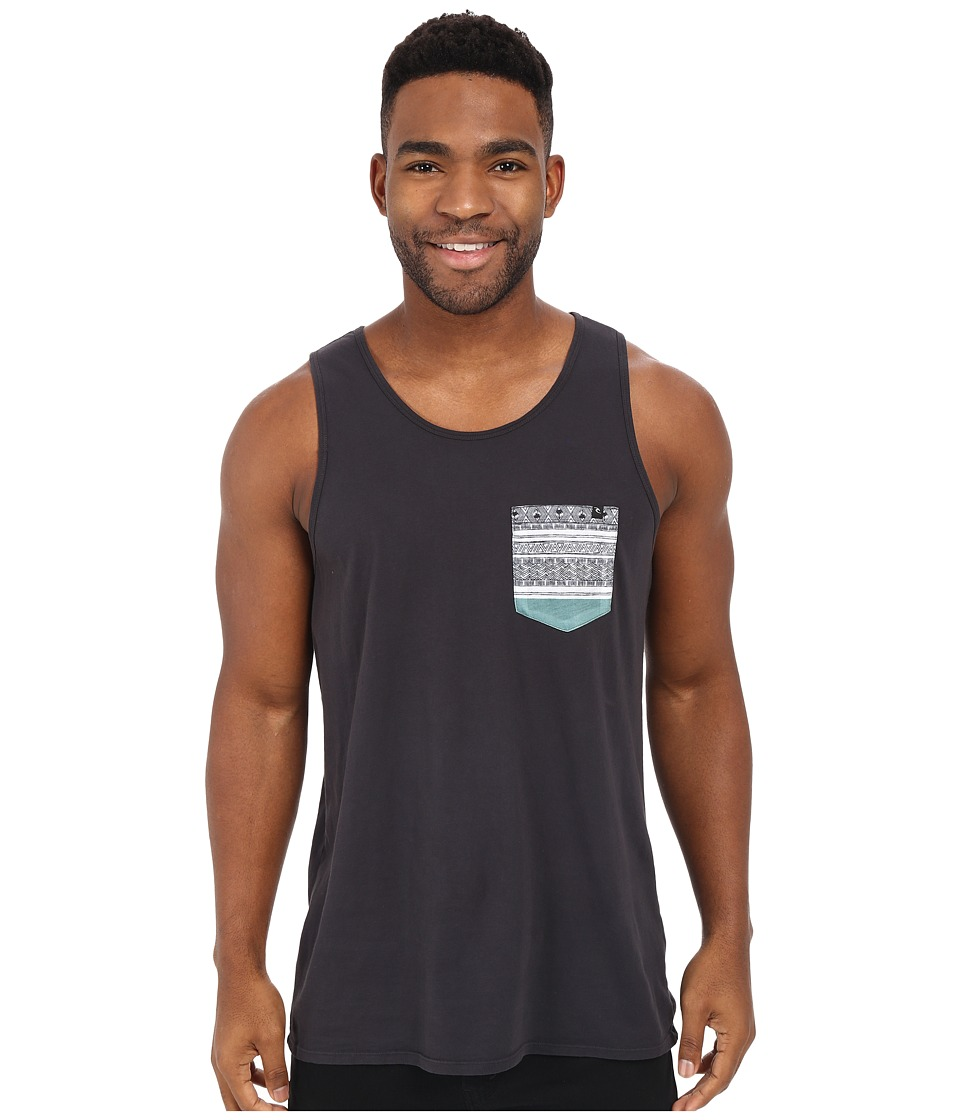 Rip Curl - Exile Custom Pocket Tank Top (Charcoal) Men's Sleeveless