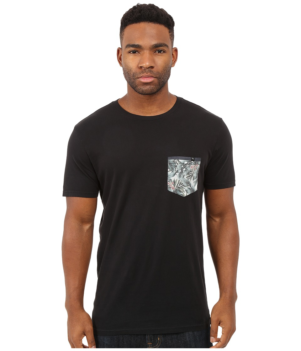 Rip Curl - Exile Custom Pocket Tee (Black) Men's T Shirt
