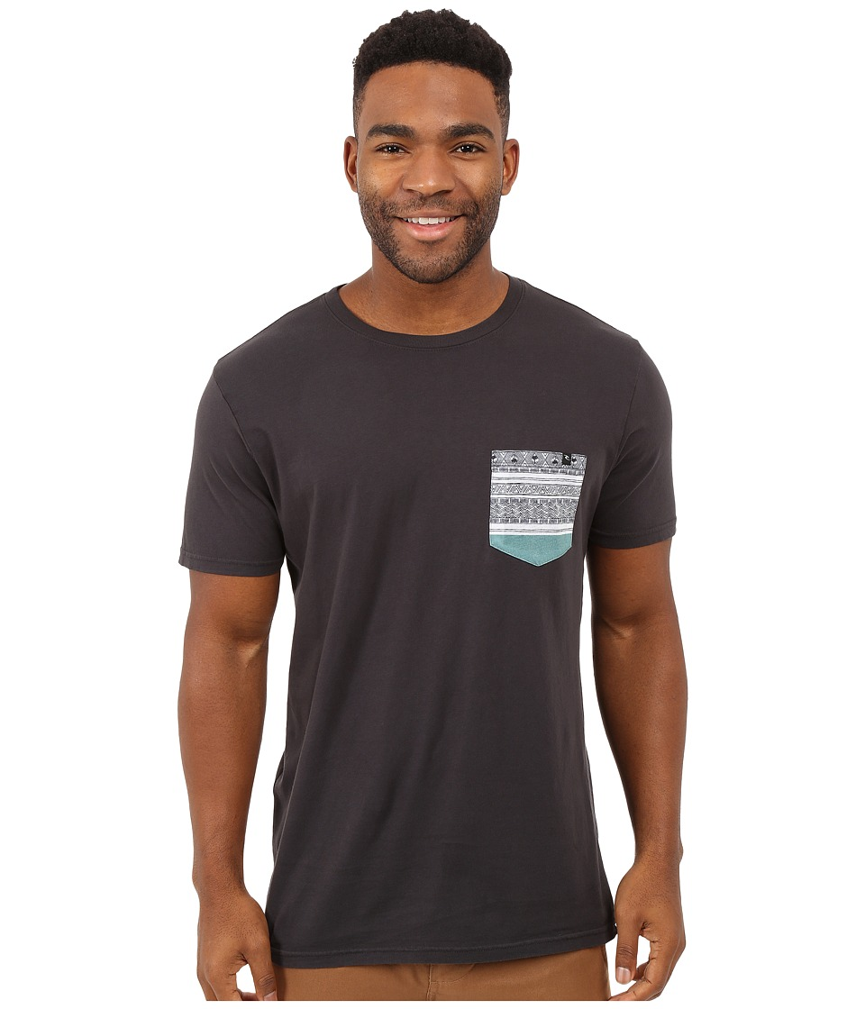 Rip Curl - Exile Custom Pocket Tee (Charcoal) Men's T Shirt