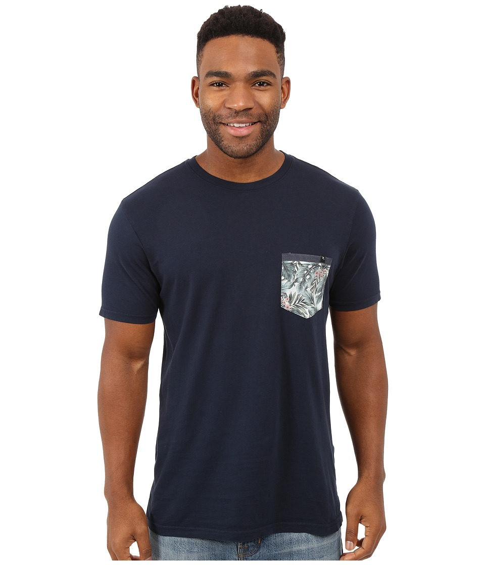 Rip Curl - Exile Custom Pocket Tee (Navy) Men's T Shirt