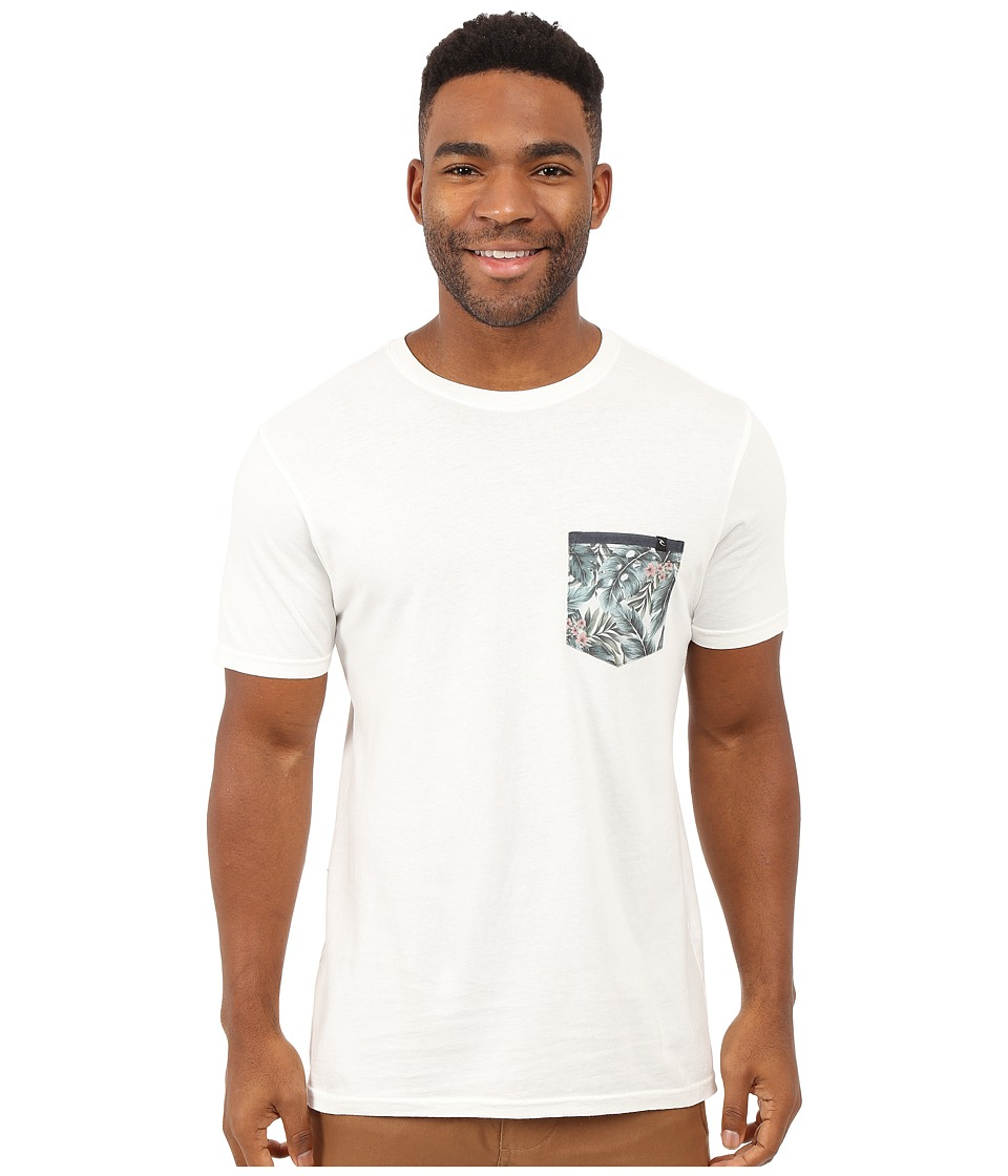 Rip Curl - Exile Custom Pocket Tee (Off-White) Men's T Shirt