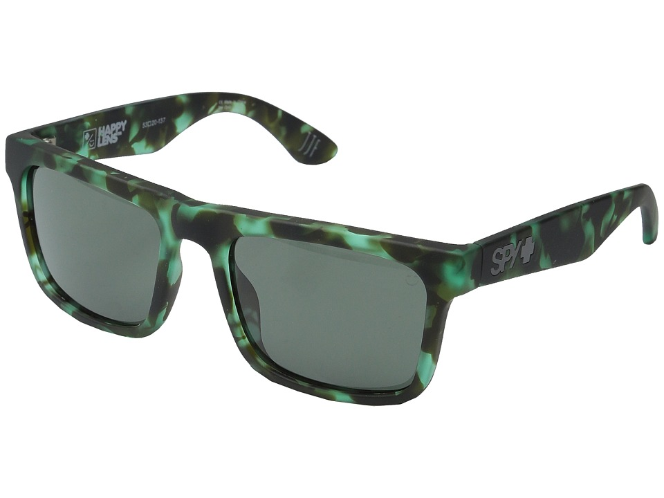 Spy Optic - Atlas (Soft Matte Green Tort/Happy Gray Green) Athletic Performance Sport Sunglasses