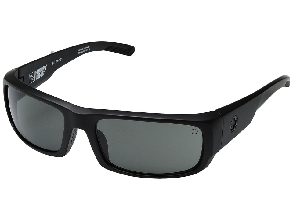 Spy Optic - Caliber (Matte Black/Happy Gray Green) Athletic Performance Sport Sunglasses