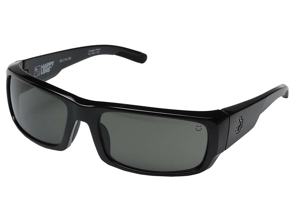 Spy Optic - Caliber (Black/Happy Gray Green) Athletic Performance Sport Sunglasses