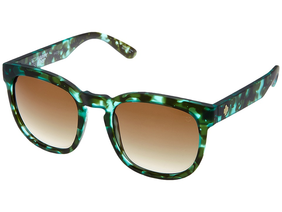 Spy Optic - Quinn (Soft Matte Green Tort/Happy Bronze Fade) Athletic Performance Sport Sunglasses
