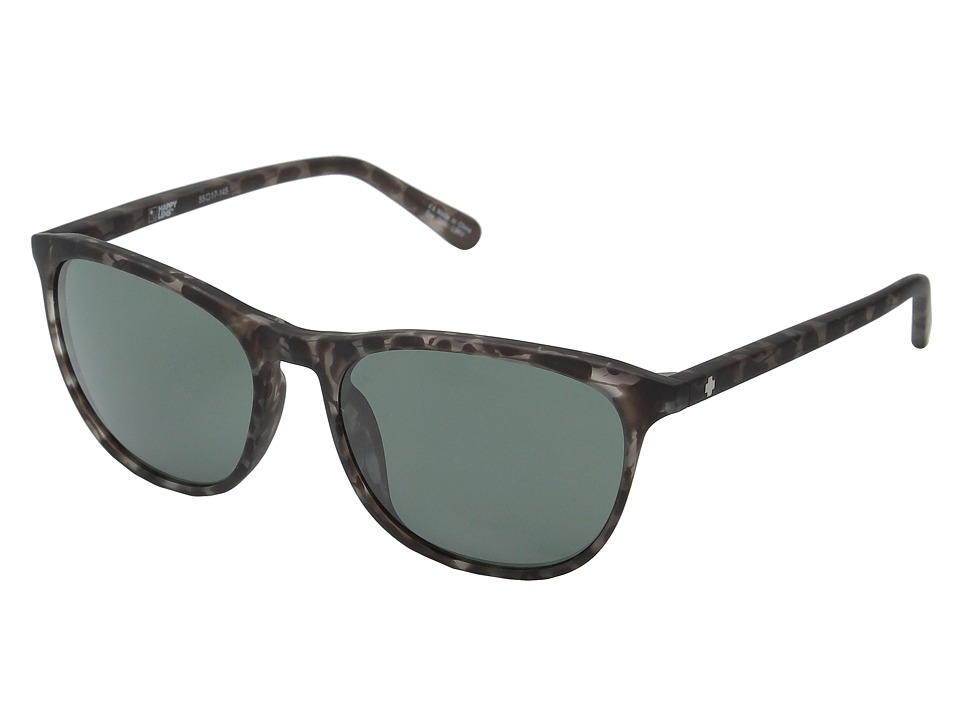 Spy Optic - Cameo (Soft Matte Smoke Tort/Happy Gray Green) Athletic Performance Sport Sunglasses