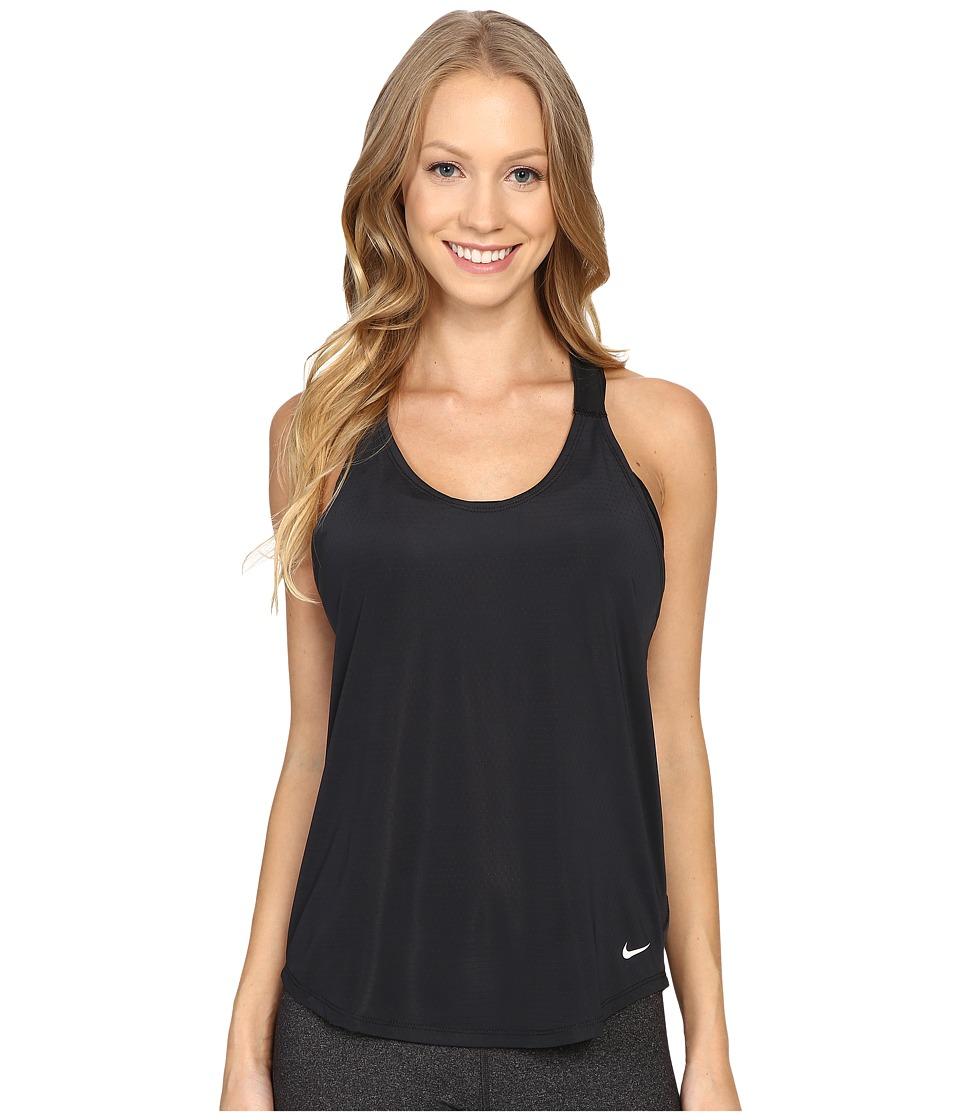 Nike - Elastika Elevate Just Do It Training Tank Top (Black/Black/White) Women's Sleeveless