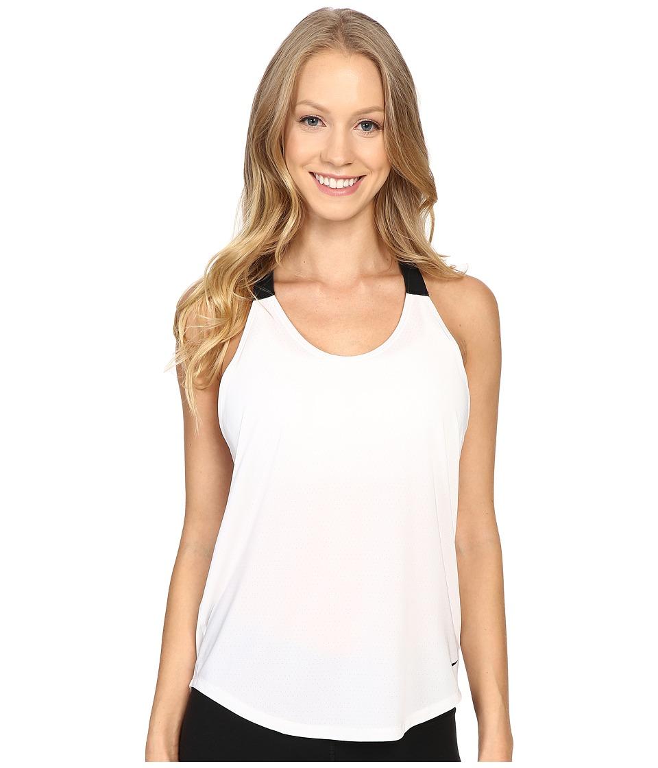 Nike - Elastika Elevate Just Do It Training Tank Top (White/Black/Black) Women's Sleeveless
