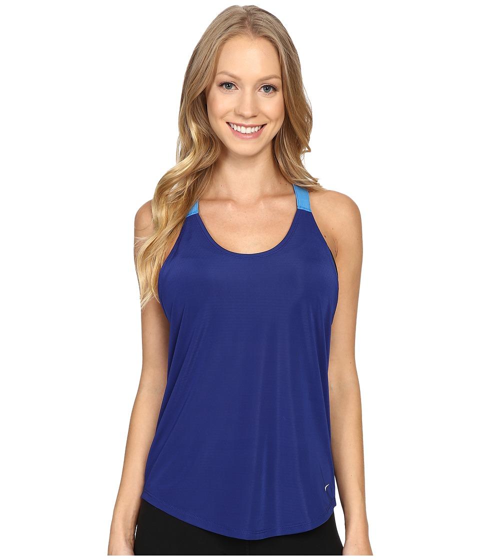 Nike - Elastika Elevate Just Do It Training Tank Top (Deep Royal Blue/Light Photo Blue/White) Women's Sleeveless