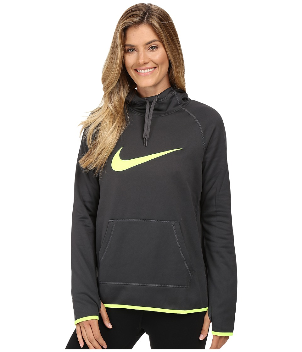 Nike - Therma Pullover Training Hoodie (Anthracite/Anthracite/Volt/Volt) Women's Clothing