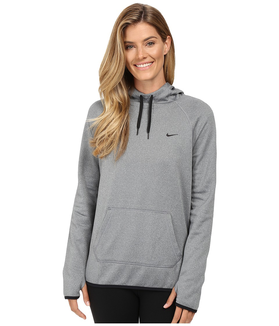 Nike - All Time Pullover Hoodie (Cool Grey/Heather/Black) Women's Long Sleeve Pullover