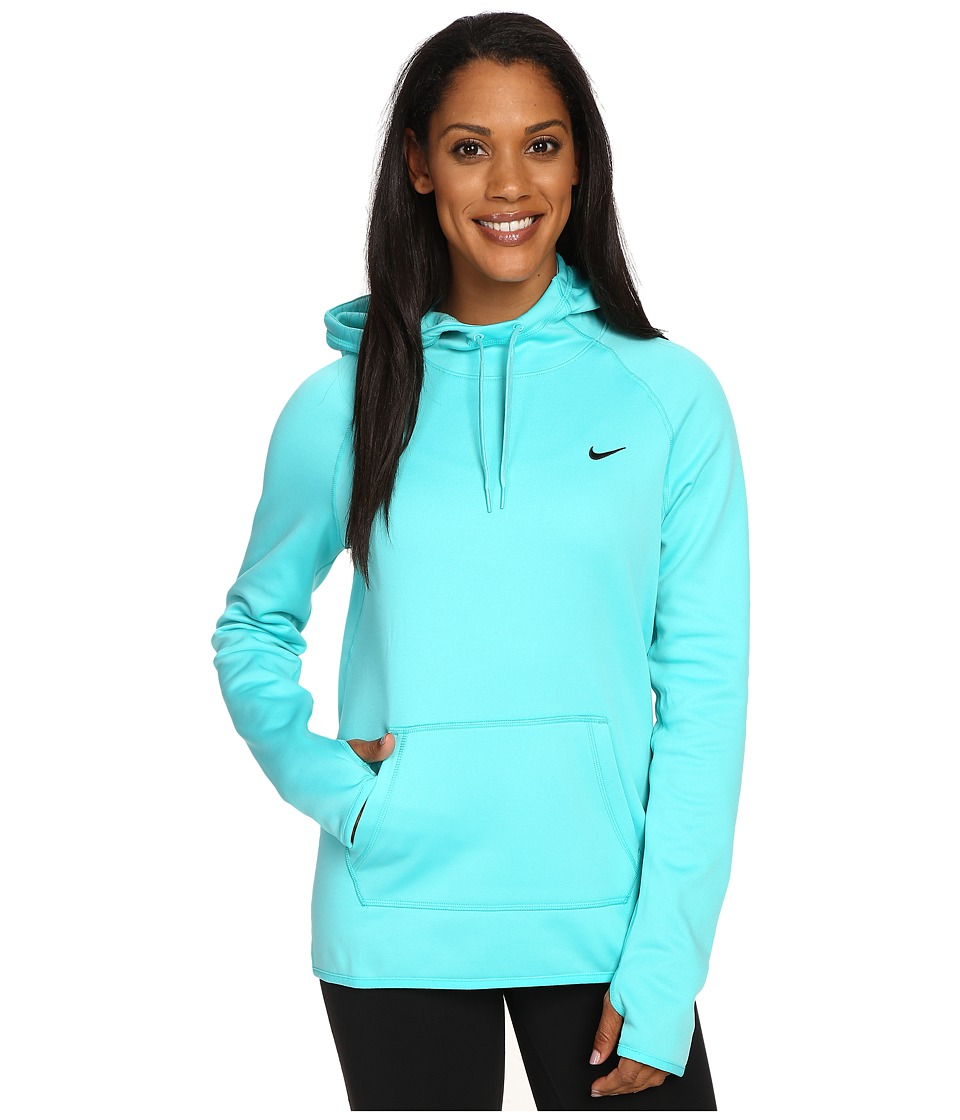 Nike - All Time Pullover Hoodie (Hyper Jade/Black) Women's Long Sleeve Pullover