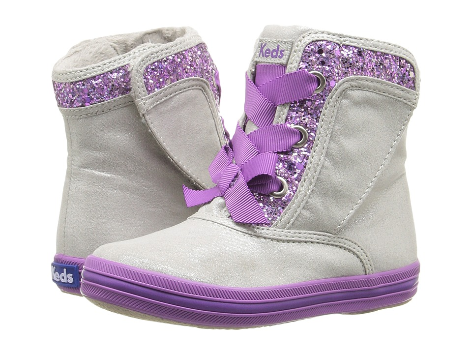 Keds Kids - Maisie Boot (Grey/Purple) Girls Shoes