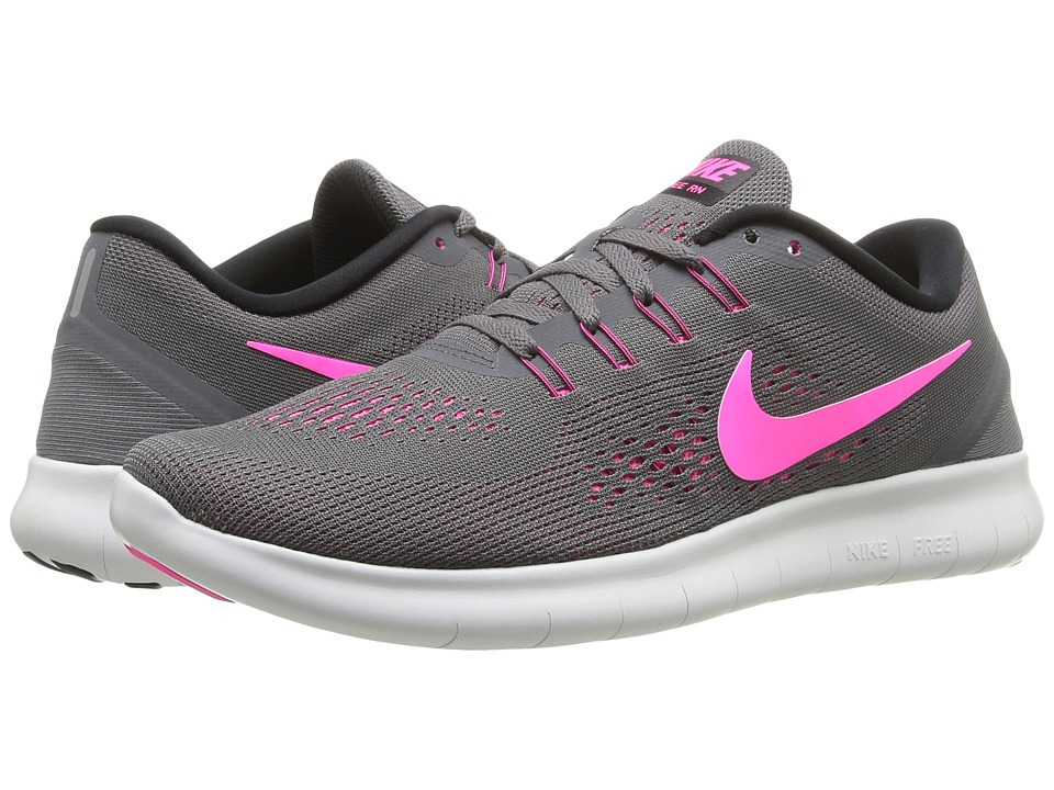 Nike - Free RN (Dark Grey/Pink Blast/Black/Cool Gray) Women's Running Shoes