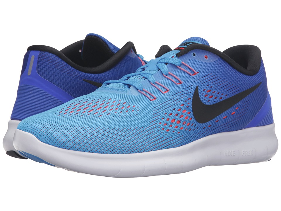 Nike - Free RN (Blue Glow/Black/Racer Blue/Bright Crimson) Women's Running Shoes