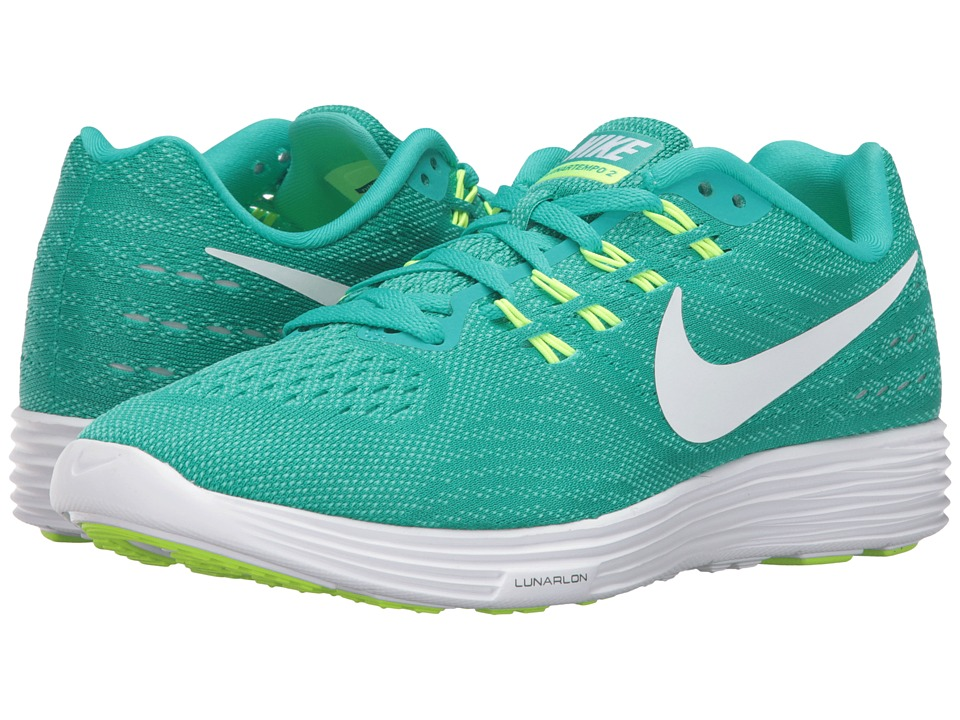 Nike - Lunartempo 2 (Clear Jade/White/Hyper Jade/Volt) Women's Running Shoes