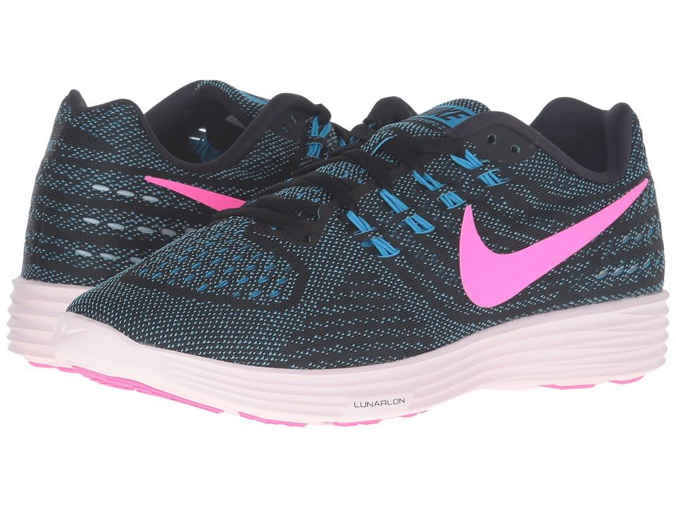 Nike - Lunartempo 2 (Blue Glow/Pink Blast/Black/Pearl Pink) Women's Running Shoes