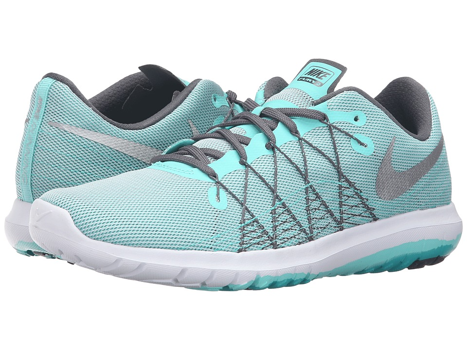 Nike - Flex Fury 2 (Hyper Turquoise/Metallic Silver/Wolf Gray/Dark Grey) Women's Running Shoes