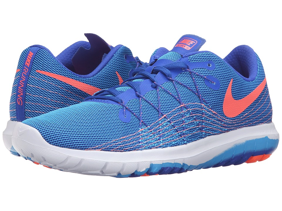 Nike - Flex Fury 2 (Racer Blue/Bright Mango/Blue Glow/White) Women's Running Shoes