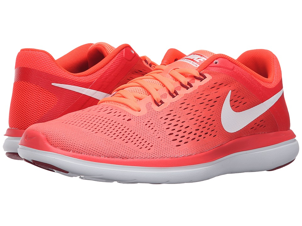 Nike - Flex 2016 RN (Bright Mango/White/Bright Crimson/Noble Red) Women's Running Shoes