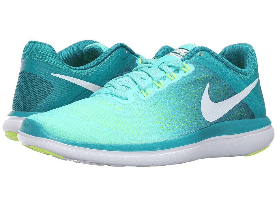Nike - Flex 2016 RN (Hyper Turquoise/White/Rio Teal/Volt) Women's Running Shoes