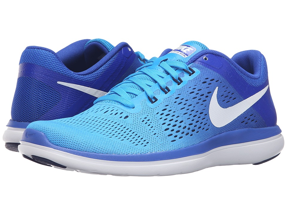 Nike - Flex 2016 RN (Blue Glow/White/Racer Blue/Mid Navy) Women's Running Shoes