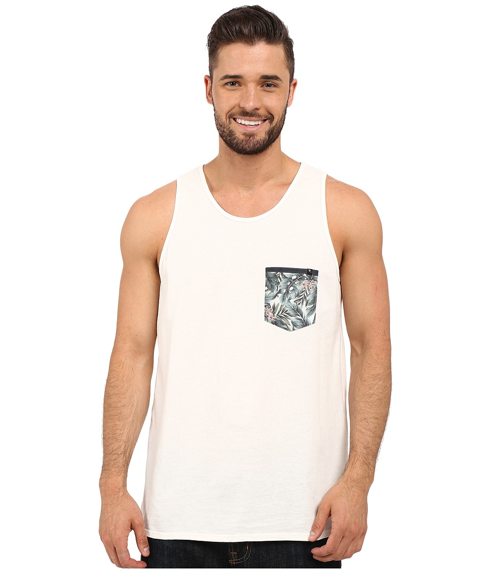 Rip Curl - Exile Custom Pocket Tank Top (Off-White) Men's Sleeveless