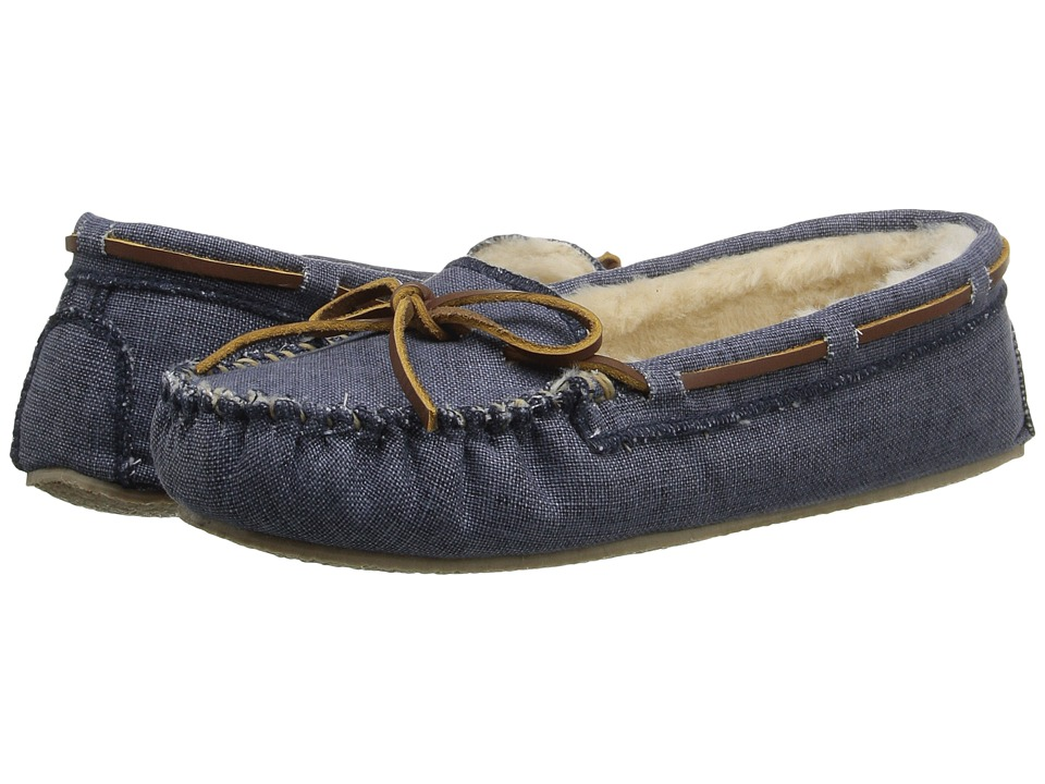 Minnetonka - Canvas Cally Slipper (Navy) Women's Slippers
