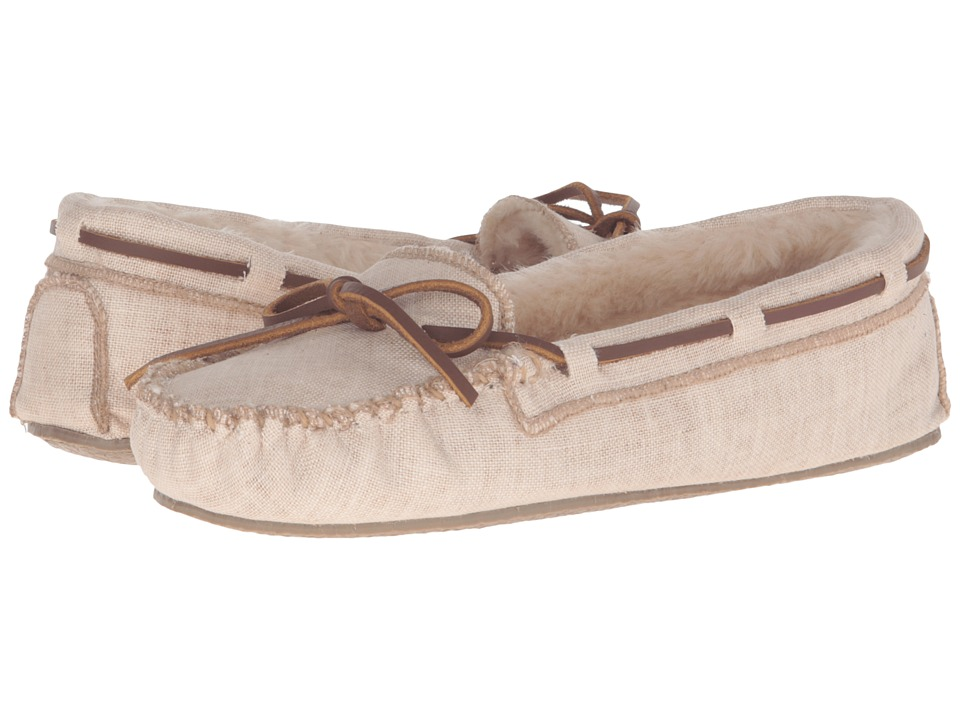 Minnetonka - Canvas Cally Slipper (Natural) Women's Slippers