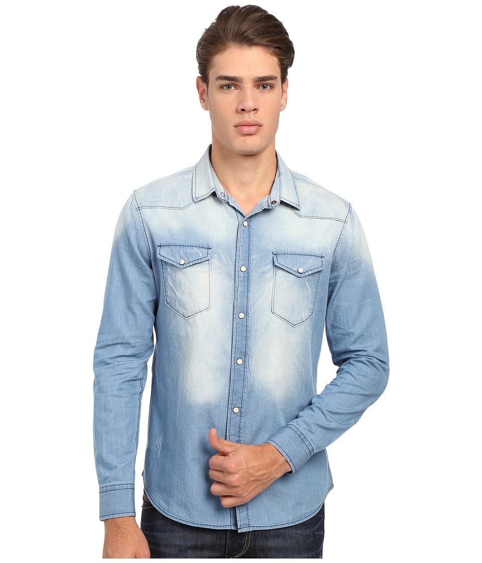 7 Diamonds Beyond Me Long Sleeve Shirt (Blue) Men
