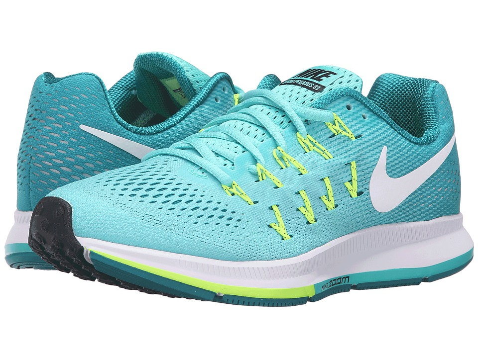 Nike - Air Zoom Pegasus 33 (Hyper Turquoise/White/Clear Jade/Volt) Women's Running Shoes