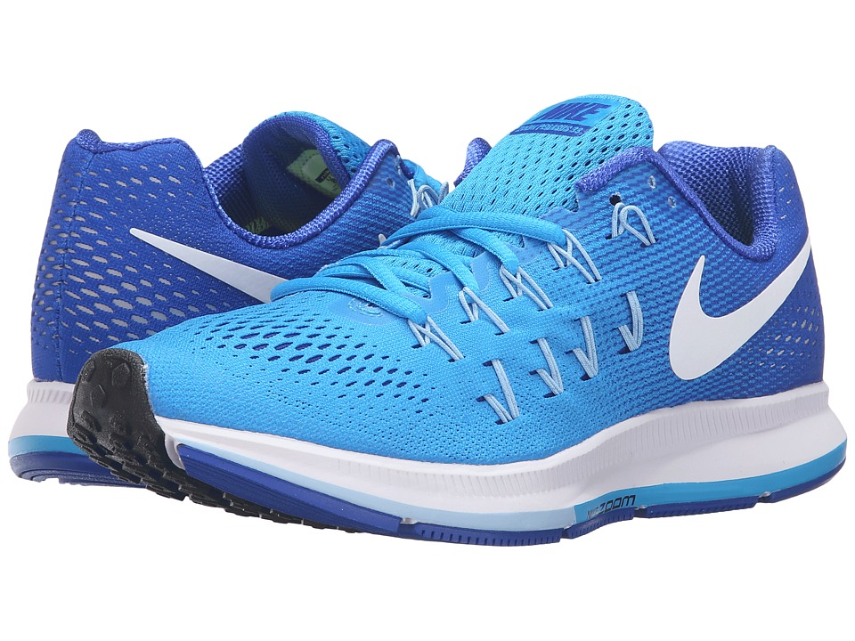 Nike - Air Zoom Pegasus 33 (Blue Glow/White/Racer Blue/Blue Cap) Women