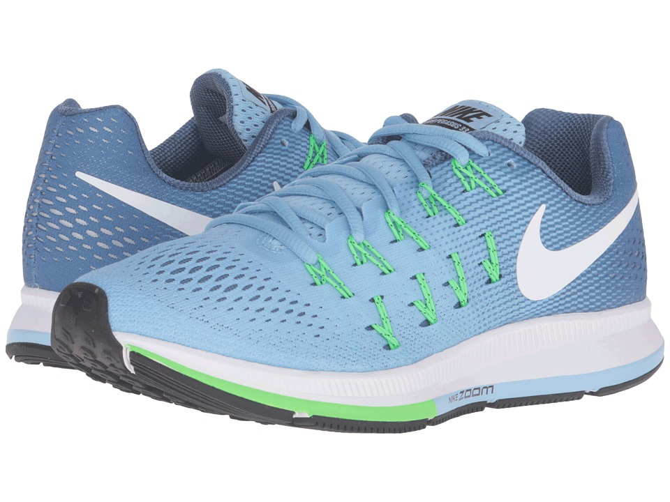 Nike - Air Zoom Pegasus 33 (Blue Cap/White/Ocean Fog/Rage Green) Women's Running Shoes