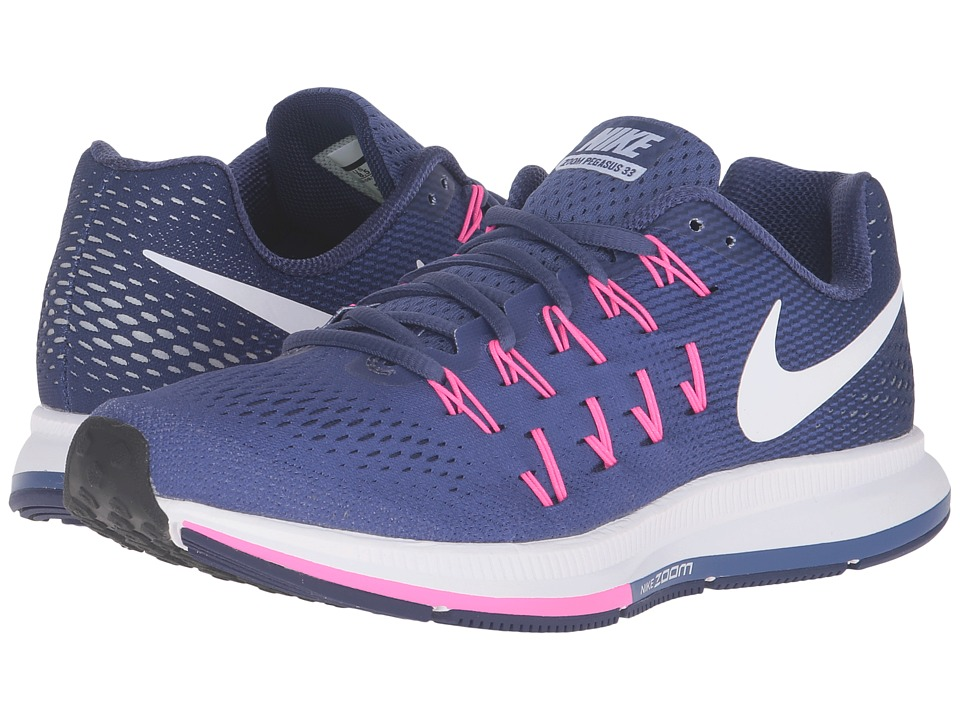 Nike - Air Zoom Pegasus 33 (Dark Purple Dust/White/Blue/Pink Blast) Women's Running Shoes