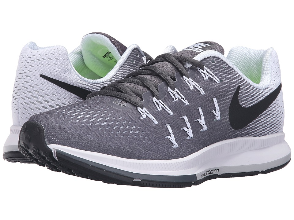 Nike - Air Zoom Pegasus 33 (Dark Grey/Black/White) Women's Running Shoes