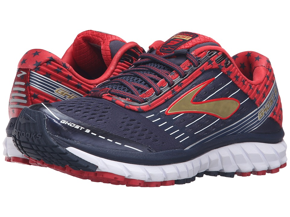 Brooks - Ghost 9 (Peacoat Navy/True Red/Gold) Women's Running Shoes
