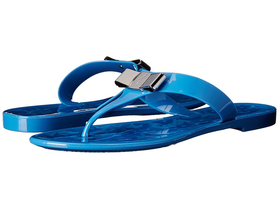 Salvatore Ferragamo - Farelia (Bleu Indien PVC) Women's Sandals