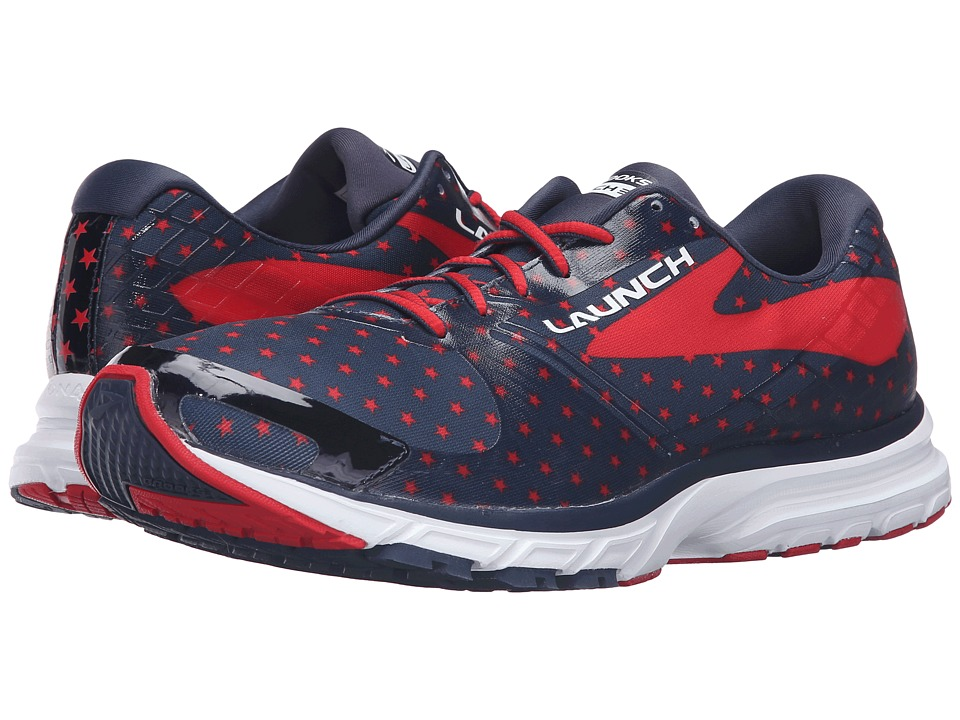 Brooks - Launch 3 (Peacoat Navy/True Red/White) Men's Running Shoes