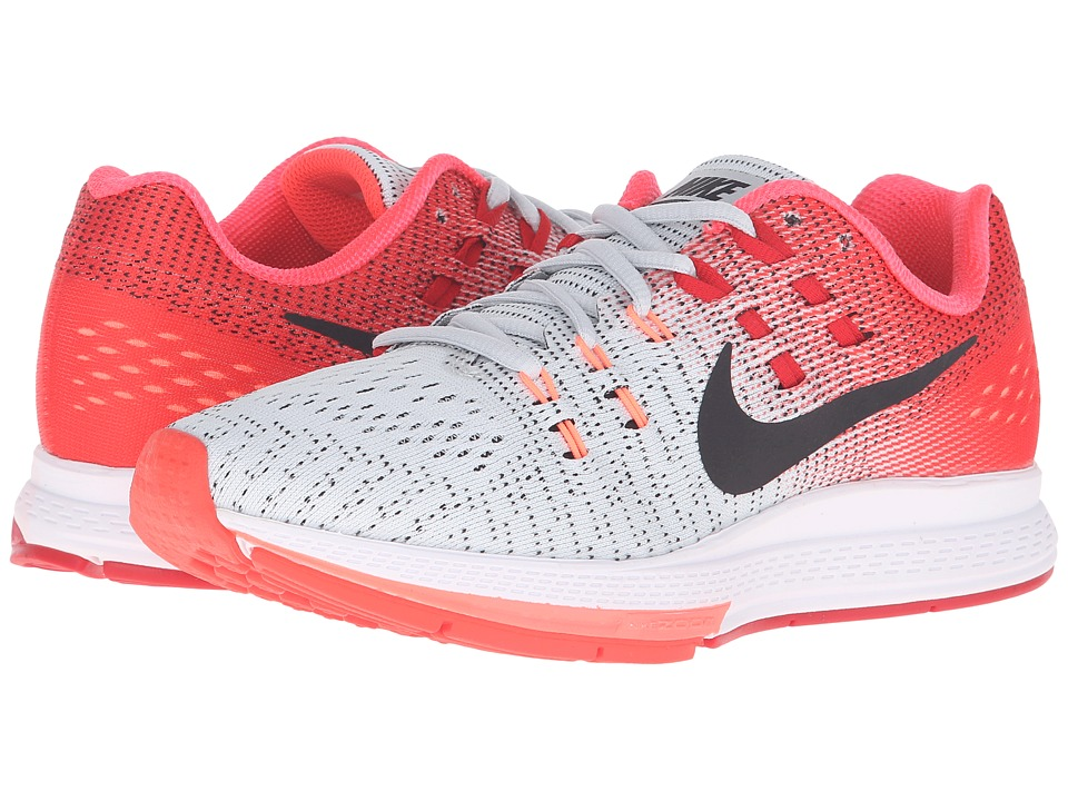 Nike - Air Zoom Structure 19 (Pure Platinum/Black/Bright Crimson/University Red) Women's Running Shoes