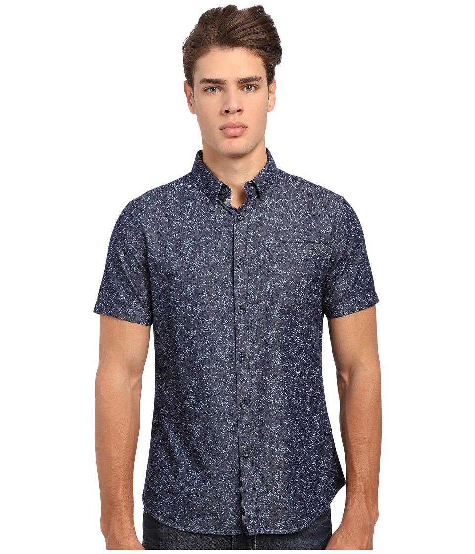 7 Diamonds Sea Breeze Short Sleeve Shirt (Midnight Blue) Men