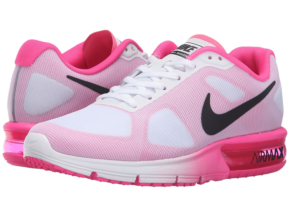 Nike - Air Max Sequent (White/Black/Pink Blast) Women's Running Shoes