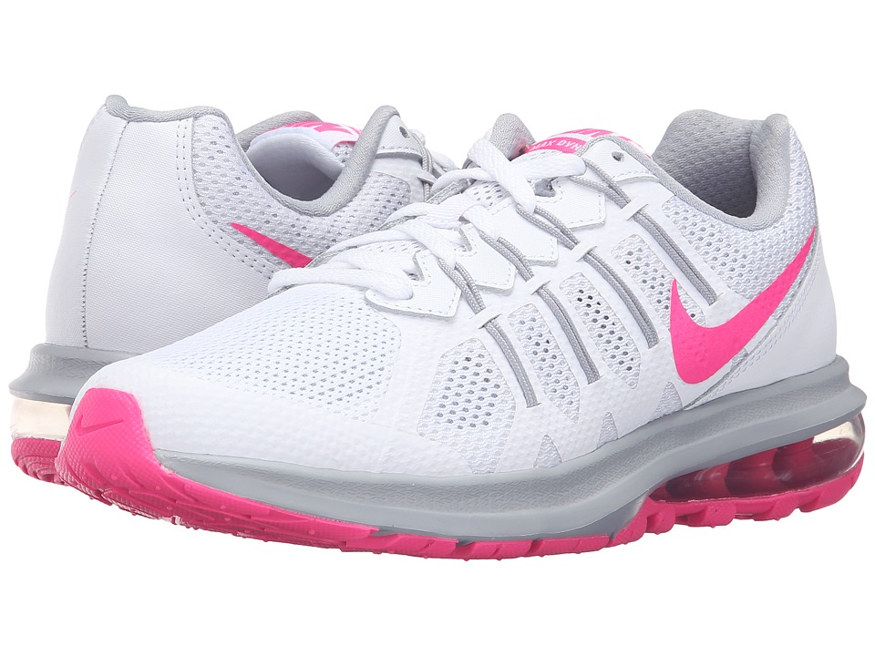 Nike - Air Max Dynasty (White/Pink Blast/Wolf Grey) Women's Running Shoes