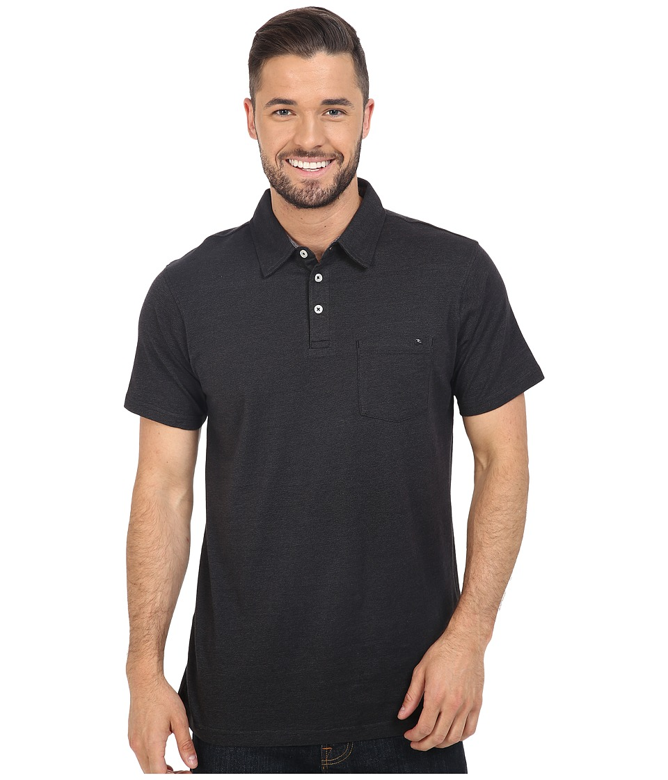 Rip Curl - Fairway Polo (Black) Men's Clothing