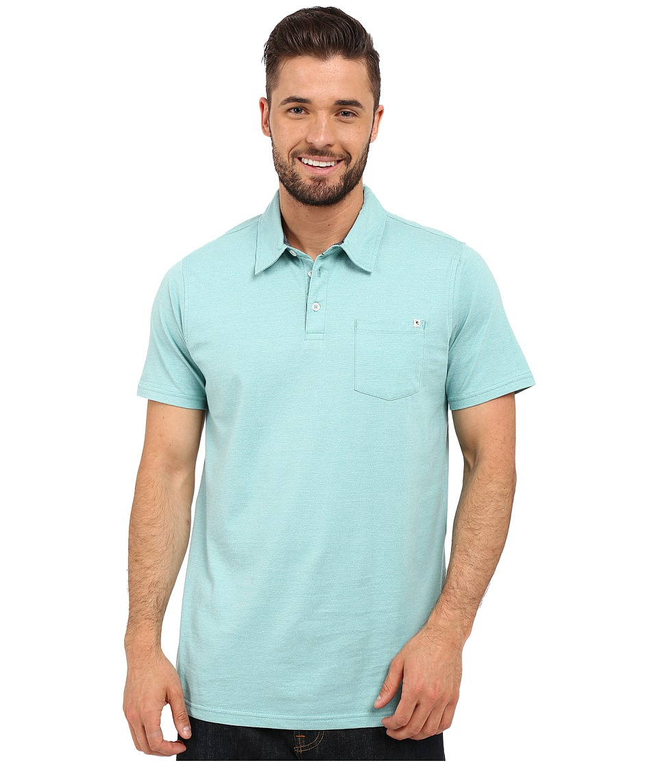 Rip Curl - Fairway Polo (Aqua) Men's Clothing