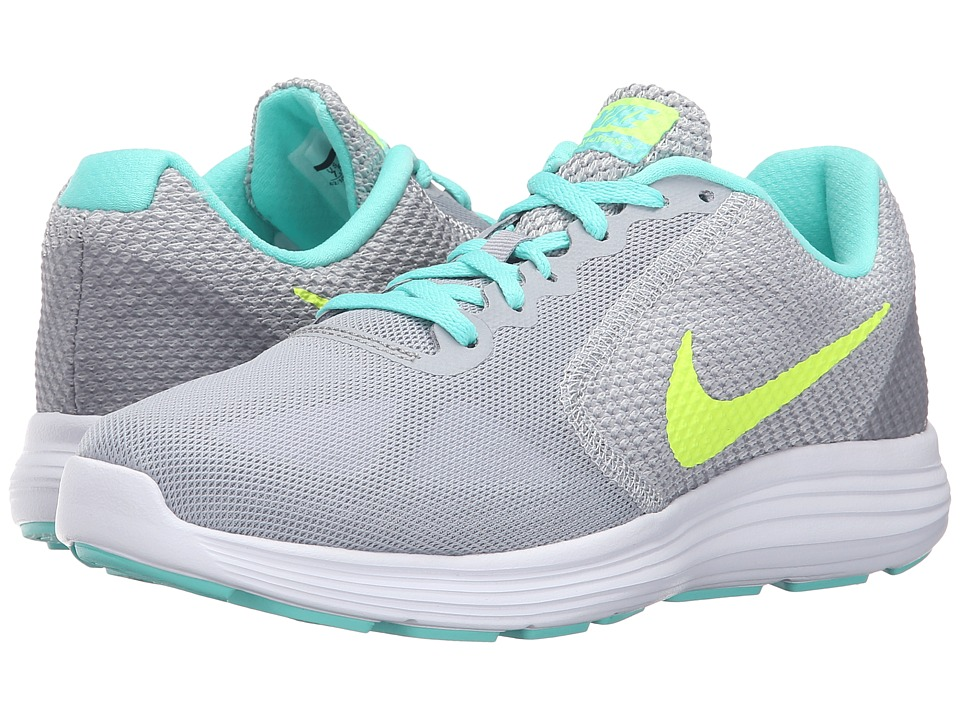 Nike - Revolution 3 (Wolf Grey/Volt/Hyper Turquoise/White) Women's Running Shoes