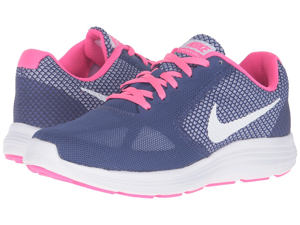 Nike - Revolution 3 (Dark Purple Dust/White/Pink Blast/Palest Purple) Women's Running Shoes