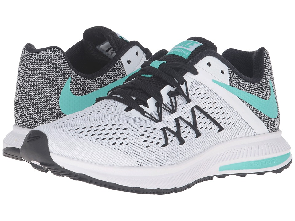 Nike - Zoom Winflo 3 (White/Hyper Turquoise/Black) Women's Running Shoes